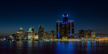 Detroit, Michigan Skyline At N...