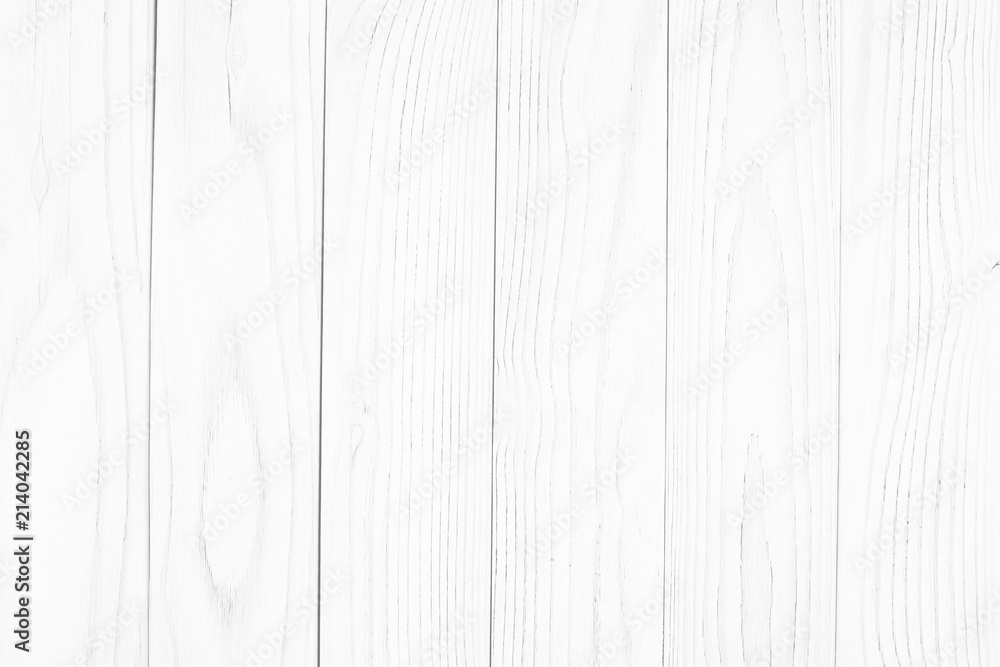 Fototapety, obrazy: white wood texture backgrounds. Abstract background, empty template.