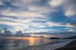 Alanya beach on sunset