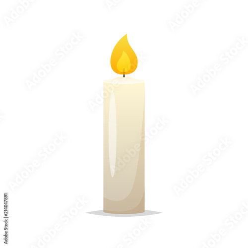 Fotografie, Obraz Candle vector isolated