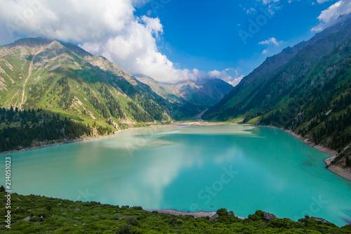 Keuken foto achterwand Asia land mountain lake in the national park, Big Almaty Lake