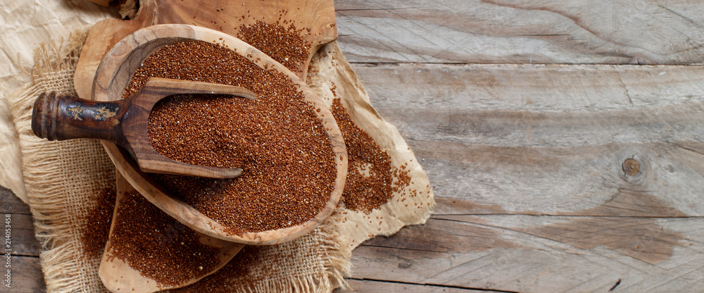 Fototapety, obrazy: Uncooked teff grain in a bowl