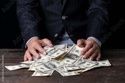 Obraz na plátne Pile of paper currency