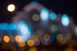 Blurred city lights bokeh