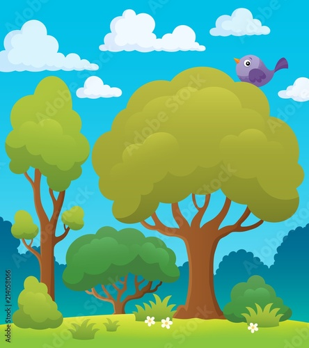 Deurstickers Voor kinderen Tree topic image 7