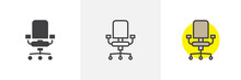 Office Chair Icon. Line, Solid...