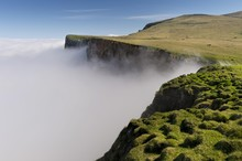 Scenic View Of Cliff And Cloud...