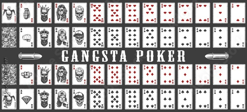 Photo  deck of gangsta playing cards