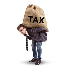 Tax Burden Concept Isolated On...