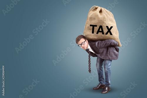 Fotografía Tax burden concept with copy space