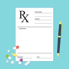 Empty Medical Prescription Rx ...