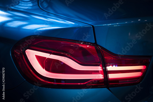 Photo  Rear lamp of new cars