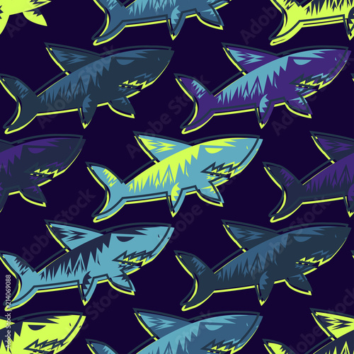 Tapety do pokoju chłopca  abstract-seamless-vector-underwater-pattern-for-girls-boys-clothes-creative-background-with-sharks-funny-wallpaper-for-textile-and-fabric-fashion-style-colorful-bright