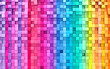 Leinwandbild Motiv 3D rendering abstract background colorful cubes wall