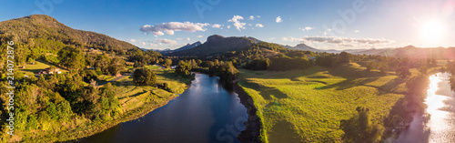 Fototapeta Aerial view of Tweed River and Mount Warning, New South Wales, Australia obraz
