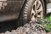 Wheel Machine In The Mud