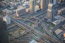 View Of An Interchange From Top In Dubai, UAE