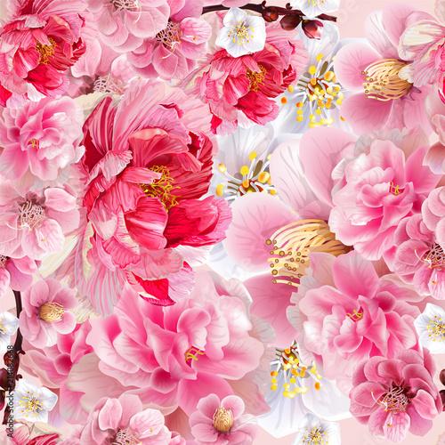 Fototapety różowe bukiet-rozowych-kwiatow