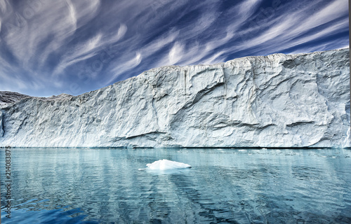 Foto op Canvas Gletsjers the end of a glacier in a greenland fjord