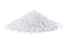 Heap Of Salt Isolated On White...