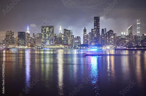 Foto op Aluminium New York City Manhattan at night, New York City, USA.