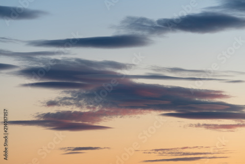 Photo  Clouds at sunset
