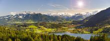 Panorama Landschaft In Bayern Mit Alpen Im Allgäu Bei Immenstadt