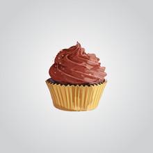 Cupcake. Chocolate Cupcake Vec...