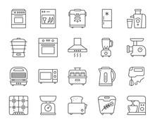 Kitchen Appliance Simple Line ...