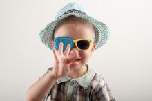Child In Glases With Occluder....