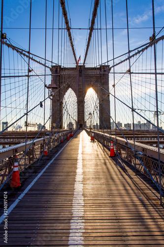 Canvas Prints Bridge The Brooklyn Bridge