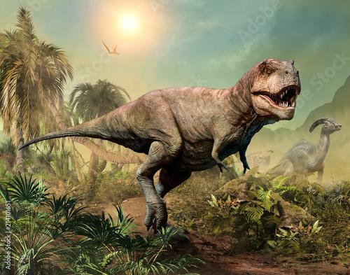 Fotografía Tyrannosaurus rex scene 3D illustration