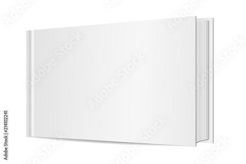 Fotografia 3D Vector mock up of standing book on white