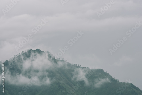 Fotografie, Obraz  Thick fog in mountains with copy space on mist