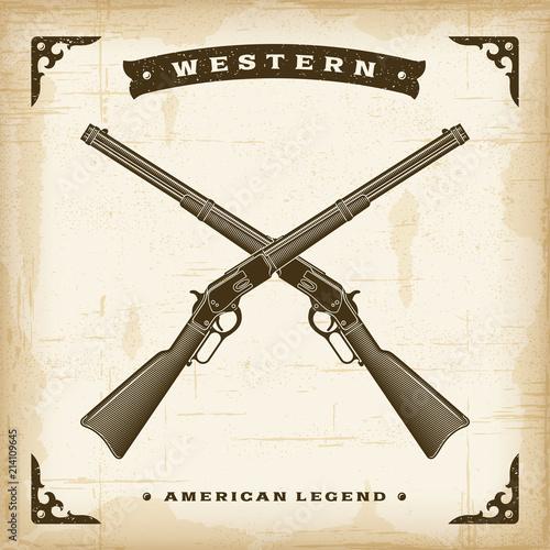 Obraz na płótnie Vintage Western Sheriff Hat