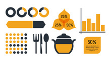 Nutrition And Food Infographic Icons Statistics And Elements