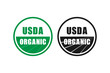 usda organic certified stamp symbol no gmo vector icon