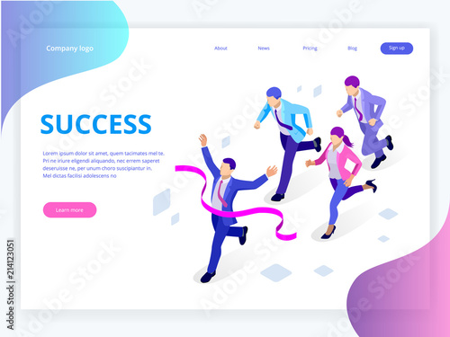 Photo Isometric Business Success Concept