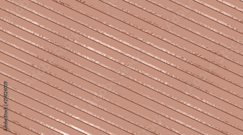 Fototapeta Vector horizontal background with rose gold glossy diagonal stripes