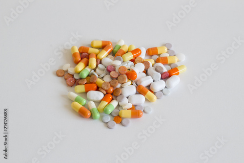 Medicines (tablets, capsules, dragees) - Buy this stock photo and