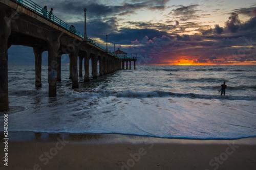 Manhattan Beach Pier, Sunset