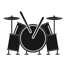 Musical Drums Icon. Simple Illustration Of Musical Drums Vector Icon For Web Design Isolated On White Background
