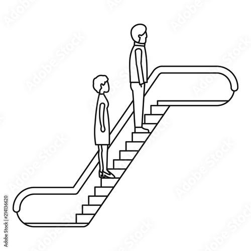 Photographie People escalator icon