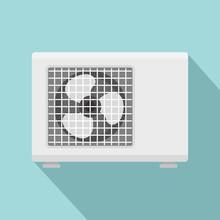 Outdoor Conditioner Fan Icon. ...