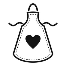 Heart Apron Icon. Simple Illus...