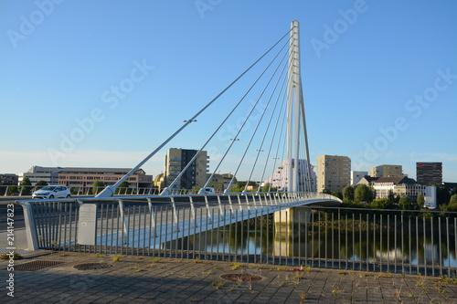 La pose en embrasure Ponts Nantes - Le pont Eric Tabarly