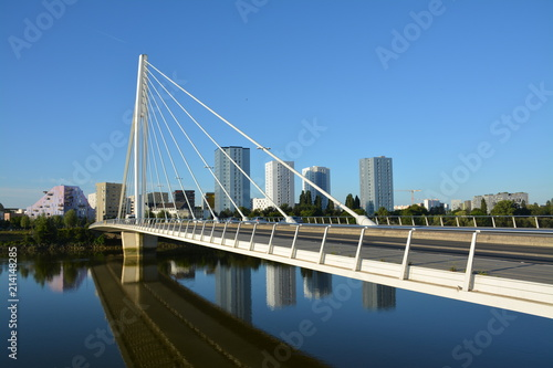 Poster Bridges Nantes - Le pont Eric Tabarly