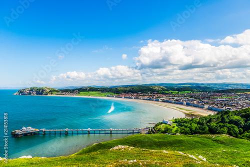 Obraz na płótnie Llandudno Sea Front in North Wales, United Kingdom