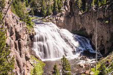 Gibbon Falls - Yellowstone Nat...