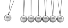 Newton's Cradle Isolated On Wh...
